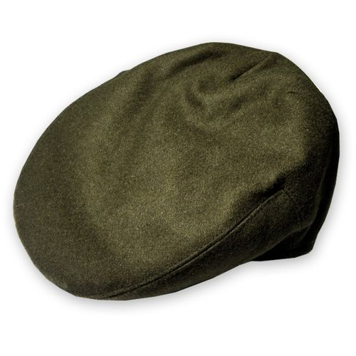 Olive Wool Plain Flat Cap In Small, Medium, Large, Extra Large