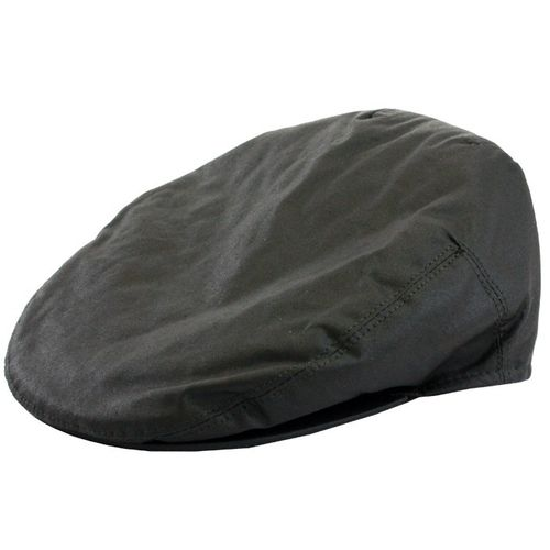 Olive Waxed Flat Cap In Small, Medium, Large, Extra Large