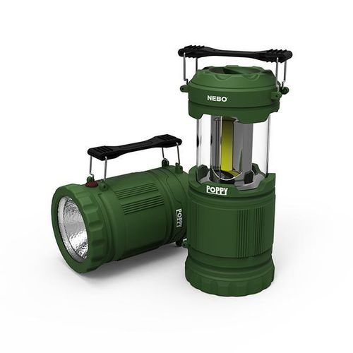 Nebo Poppy 300 Lumen Dimmable Combination Lantern Spot Light Torch In Green