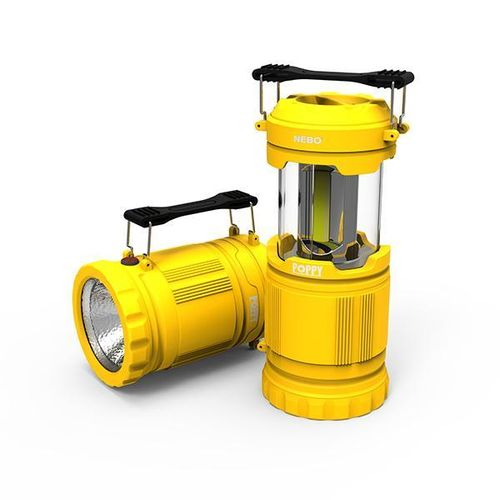 Nebo Poppy 300 Lumen Dimmable Combination Lantern Spot Light Torch In Yellow